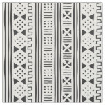 Black | White African MudCloth Inspired Scalable Fabric