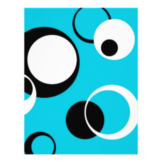 Black white and Blue Circles Letterhead