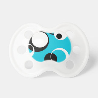 Black white and Blue Circles Pacifier
