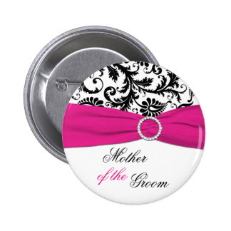Black White and Fuchsia Mother of the Groom Pin