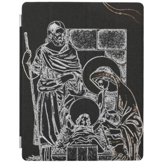 BLACK WHITE AND GOLD NATIVITY iPad COVER