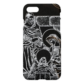 BLACK WHITE AND GOLD NATIVITY iPhone 8/7 CASE