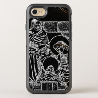 BLACK WHITE AND GOLD NATIVITY OtterBox SYMMETRY iPhone 8/7 CASE