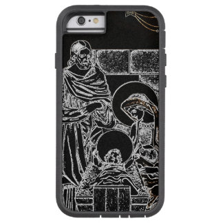 BLACK WHITE AND GOLD NATIVITY TOUGH XTREME iPhone 6 CASE