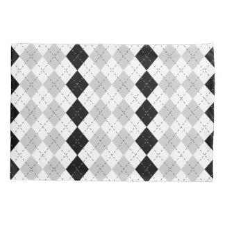 Black White and Gray Argyle Pillowcase