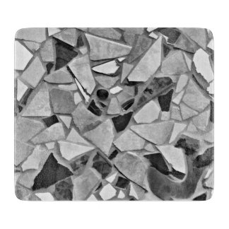 Black, White And Gray Terrazzo Photo Art Cutting Board
