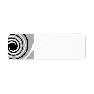 Black, White and Gray Twist Design.