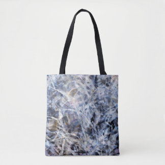 Black, White and Grey Abstract Expressionist Tote