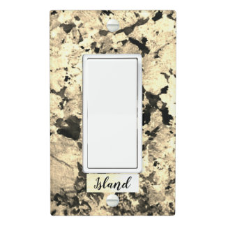 Black, White and Grey Pattern Granite Light Switch Cover