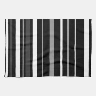 Black, white and grey stripes. kitchen towel