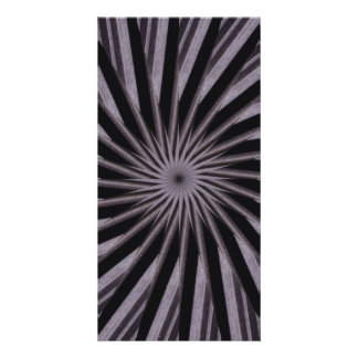 Black white and grey swirly template abstract art customized photo card
