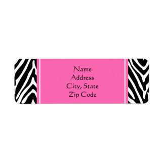 Black, White and Hot Pink Zebra Print