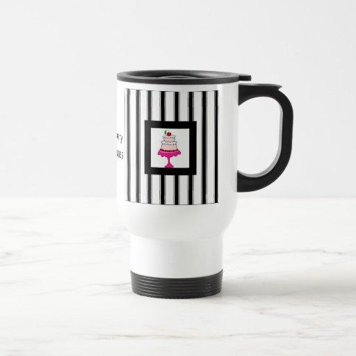 Black,white and pink, Bakery Mug