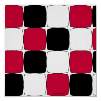 Black, White and Red Fisheye by Celeste Sheffey... Poster