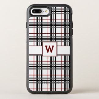 Black White and Red Plaid Otterbox Phone Case