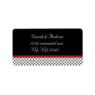 Black, white and red polka dotsAvery Label