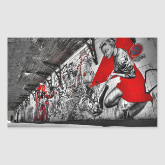 Black, White and Red Street Art Graffiti Sticker