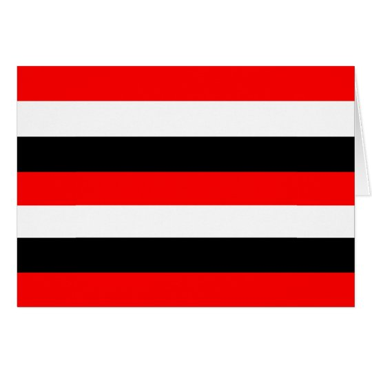 Black, White and Red Stripes Card