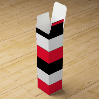 Black, White and Red Stripes Wine Gift Box
