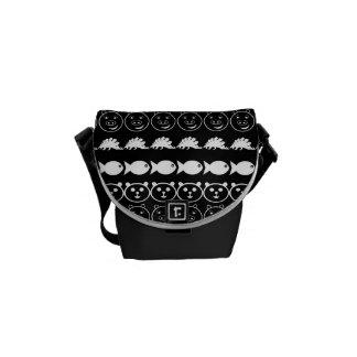 Black White Animals Modern Stripes Pattern Courier Bag