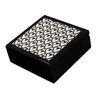 Black & White Art Deco Noir Pattern Keepsake Boxes
