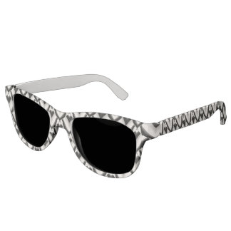 Black & White Art Deco Noir Pattern Sunglasses
