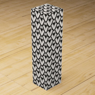 Black & White Art Deco Noir Pattern Wine Box