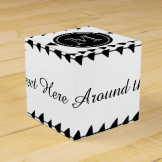 Black White Aztec Arrows Monogram Wedding Favor Boxes