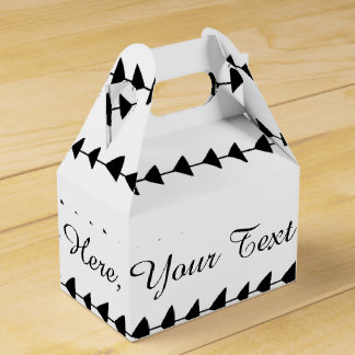 Black White Aztec Arrows Pattern Favor Box