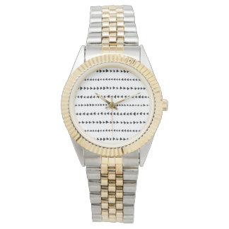 Black  White Aztec Arrows Pattern Wrist Watch