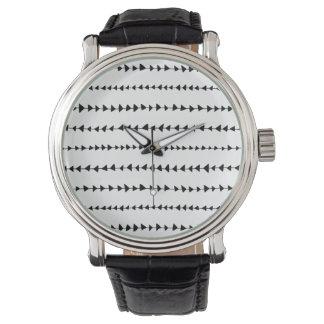 Black  White Aztec Arrows Pattern Wrist Watches