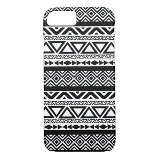 Black White Aztec Tribal Pattern 4 iPhone 7 case
