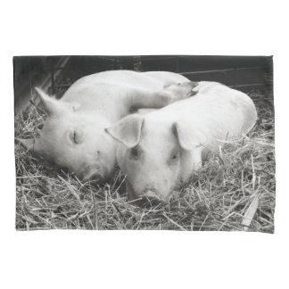 Black & White baby piglets pillow case Pillowcase