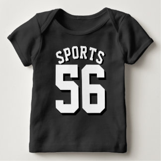 Black & White Baby | Sports Jersey Design Baby T-Shirt