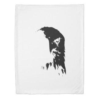Black & White Bald Eagle Duvet