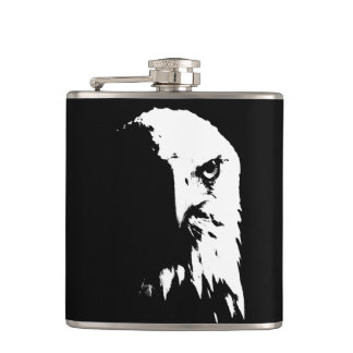 Black & White Bald Eagle Flask