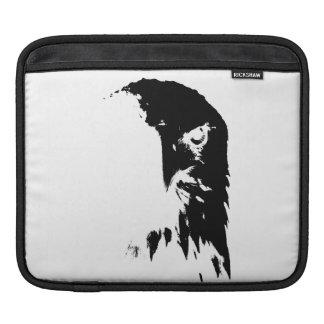 Black & White Bald Eagle iPad Sleeve
