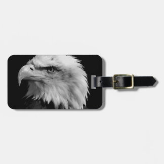 Black & White Bald Eagle Luggage Tag