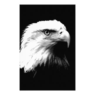 Black & White Bald Eagle Stationery