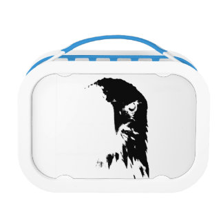Black & White Bald Eagle Yubo lunchbox
