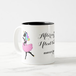 Black white ballerina Unicorn mug