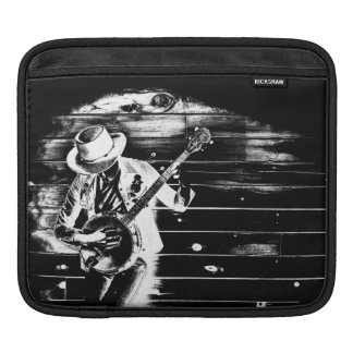 Black & White Banjo Man - Tablet Sleeve