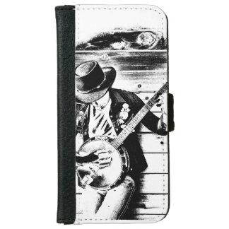 Black & White Banjo Man - Wallet Case