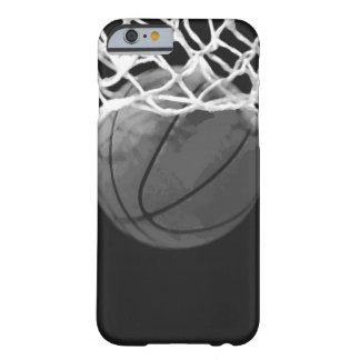 Black & White Basketball Barely There iPhone 6 Case