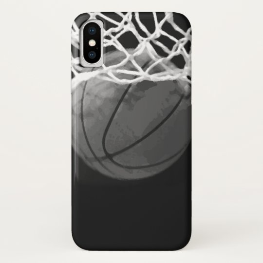 Black & White Basketball iPhone X Case