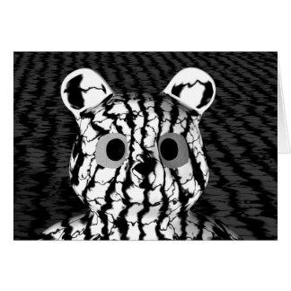 Black White Bear Card