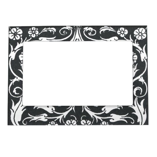 Black White Beardsley Art Nouveau Picture Frame Magnets