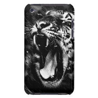 Black & White Beautiful Tiger Head Wildlife Barely There iPod Cases