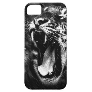 Black & White Beautiful Tiger Head Wildlife Case For The iPhone 5