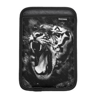 Black & White Beautiful Tiger Head Wildlife iPad Mini Sleeve